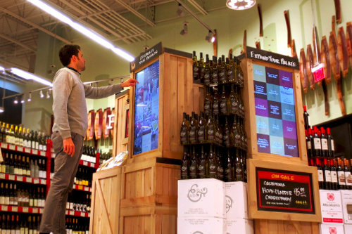 In-store interactive digital signage