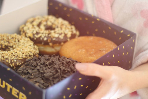 Home-made artisan doughnuts