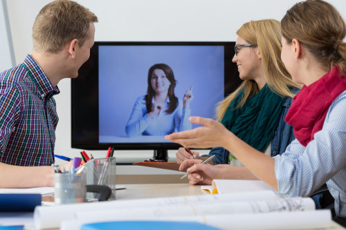 Using web conferencing software