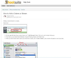 Hootsuite How to add a column or stream