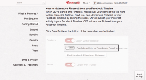 Pinterest - Your Facebook Fans don't want it glutting their feed