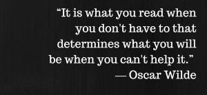 Oscar Wilde Quote - Reading Quote