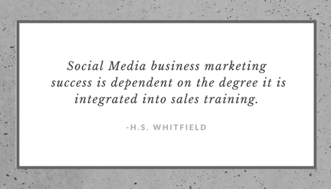 Social Media Small Business Sucess quote