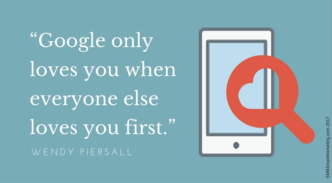 "IMAGE Quote ""Google only loves you when everyone else loves you first."" W. Piersall"