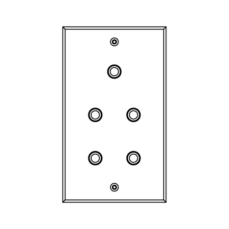 MELJAC Classique light switch with 5 buttons, double faceplate