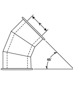 Double Wall 45° Lateral with E-Z Flange and Barrel Clamp