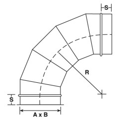 90 Degree Diagram Ge Profile Refrigerator Wiring Elbow 5 Pieces Sheet Metal Connectors Inc