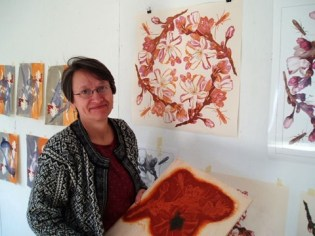 Visiting Artist April Vollmer in the Studio