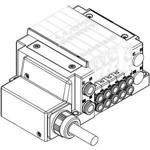 SS5Y3-10, 3000 Series Manifold, Lead Wire (IP67)