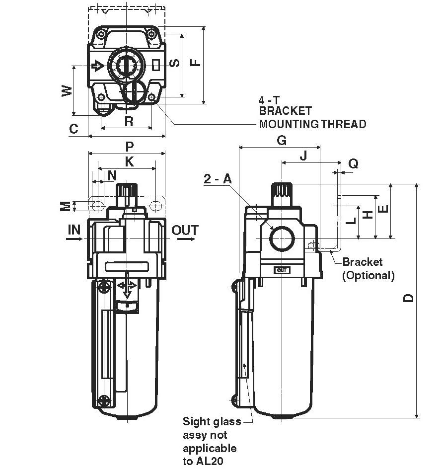 SMC AL30-02-A lubricator, AL MASS PRO