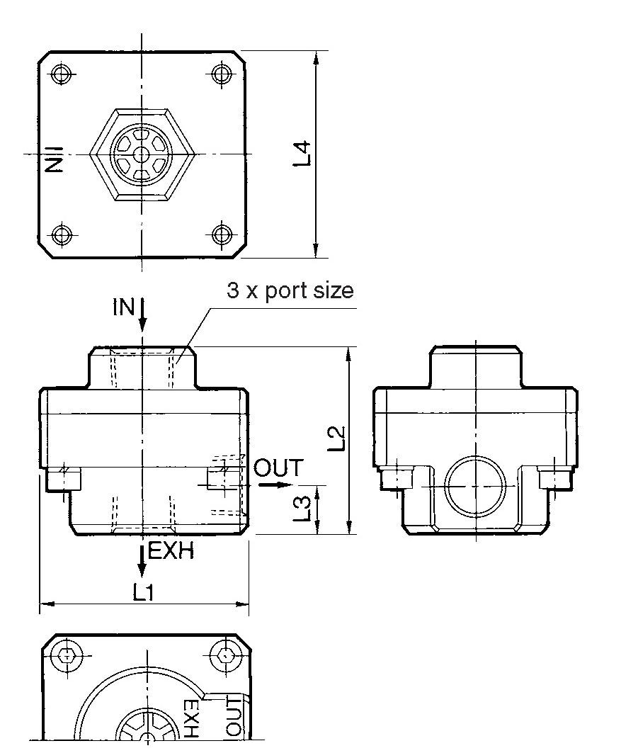 SMC AQ3000-N03-H quick exhaust, AQ QUICK EXHAUST***
