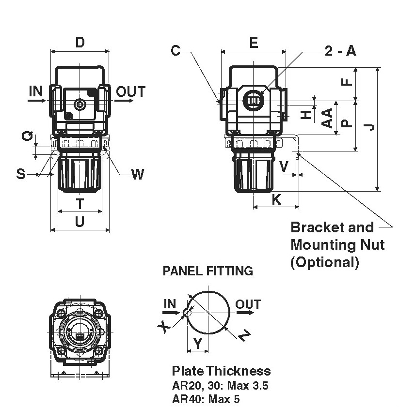 SMC AR20P-580AS lockout mechanism, AR MASS PRO