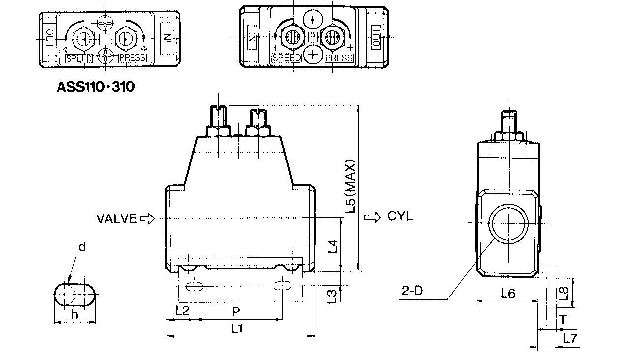 SMC ASS300-03 speed control, ASS SLOW START VALVE