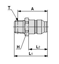 SMC KKA3P-01M-1 s coupler, stainless steel, KKA S COUPLERS