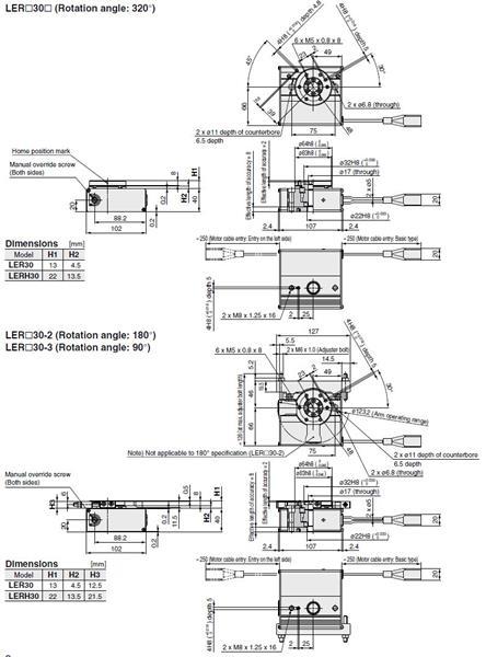 SMC LERH30K actuator, electric, slider, ELECTRIC ACTUATOR