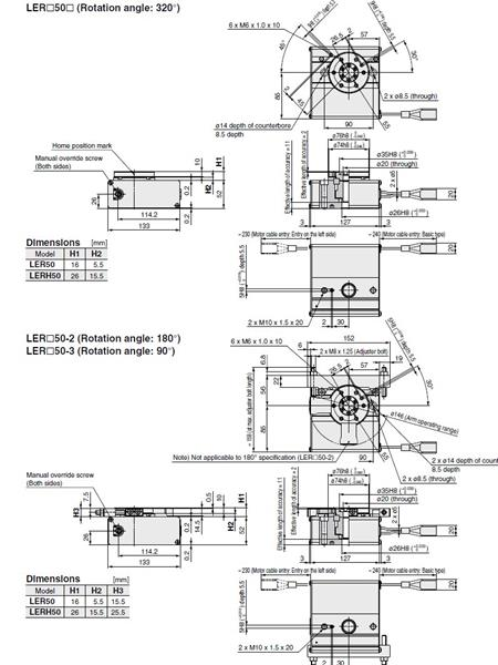 SMC LERH50K actuator, electric, slider, ELECTRIC ACTUATOR