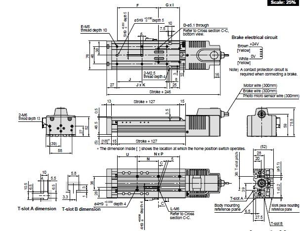 SMC LXSH5BD-50SB-GN actuator, elec h/rigidity,ball, LX
