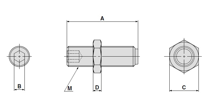 SMC MXQ-A1227-X11 adjustment bolt, MXQ GUIDED CYLINDER***