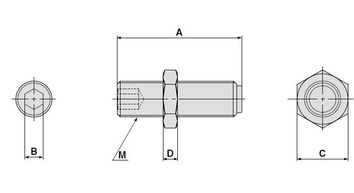 SMC MXQ-A1227-X12 adjustment bolt, MXQ GUIDED CYLINDER***