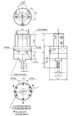 SMC NCDRB1BW30-90S actuator, rot, auto, NCRB1BW ROTARY