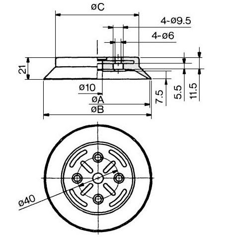 SMC ZP100HBN vacuum pad, ZP VACUUM PAD***