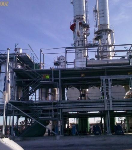 Réseaux de vapeur et d'utilités d'une unité de bio carburant