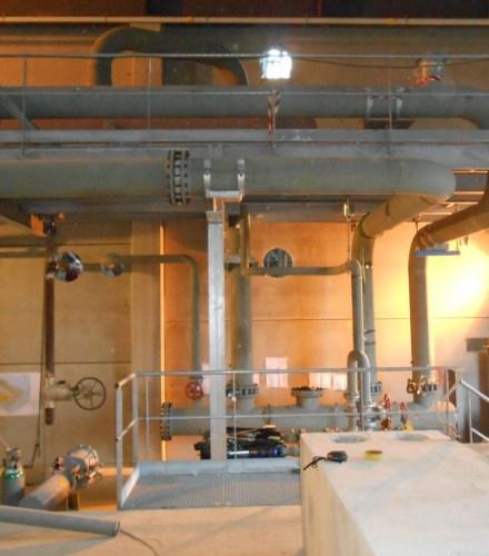 Réseaux de tuyauteries d'une centrale de cogénération biomasse