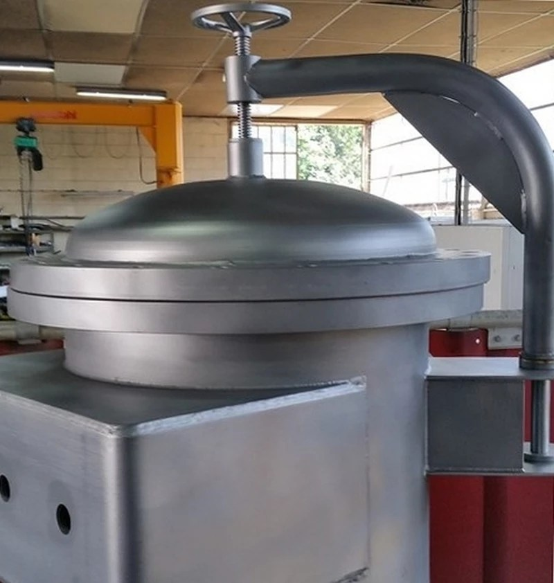 Fabrication d'un filtre Ø 600 contenant du cacao