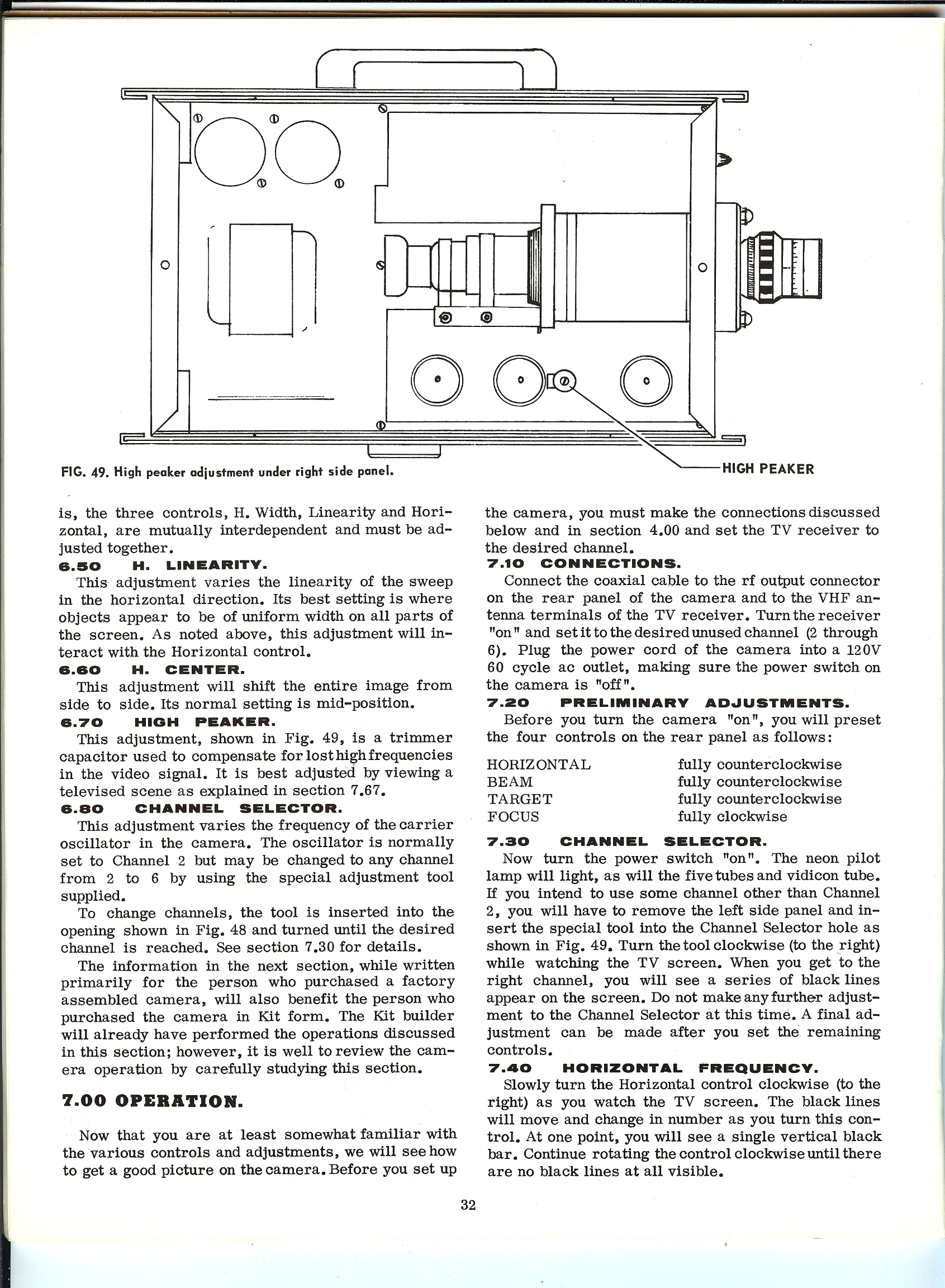 Conar 800 Camera Manual and Instructions SMECC