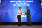 Alok Gupta President, PCAIT and Convenor FAIIT giving away the award to IBM for best Non-x86 award