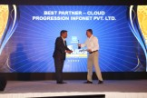 MR. VISWANATH RAMASWAMY, VP-POWER SYSTEMS, IBM INDIA AND SOUTH INDIA IS GIVING AWAY THE AWARD OF THE BEST CLOUD PARTNER TO PROGRESSION INFONET