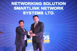 MR. SANJAY MOHAPATA EDITOR SME CHANNELS IS VING AWAY THE AWARD OF CHANNEL CHOCIE AWARD TO SMARTLINK NETWORKING IN NETWORKING SOLUTION CATEGORY