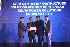 MR. SANJAY MOHAPATA EDITOR SME CHANNELS IS VING AWAY THE AWARD OF DATA CENTRE INFRASTRUCTURE SOLUTIONS VENDOR OF THE YEAR TO DELTA POWER