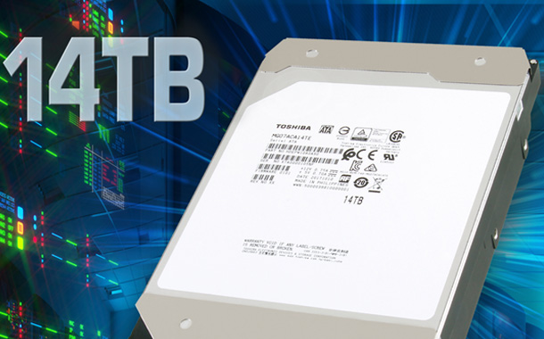 Toshiba launches World's First 14TB Conventional Hard Drive