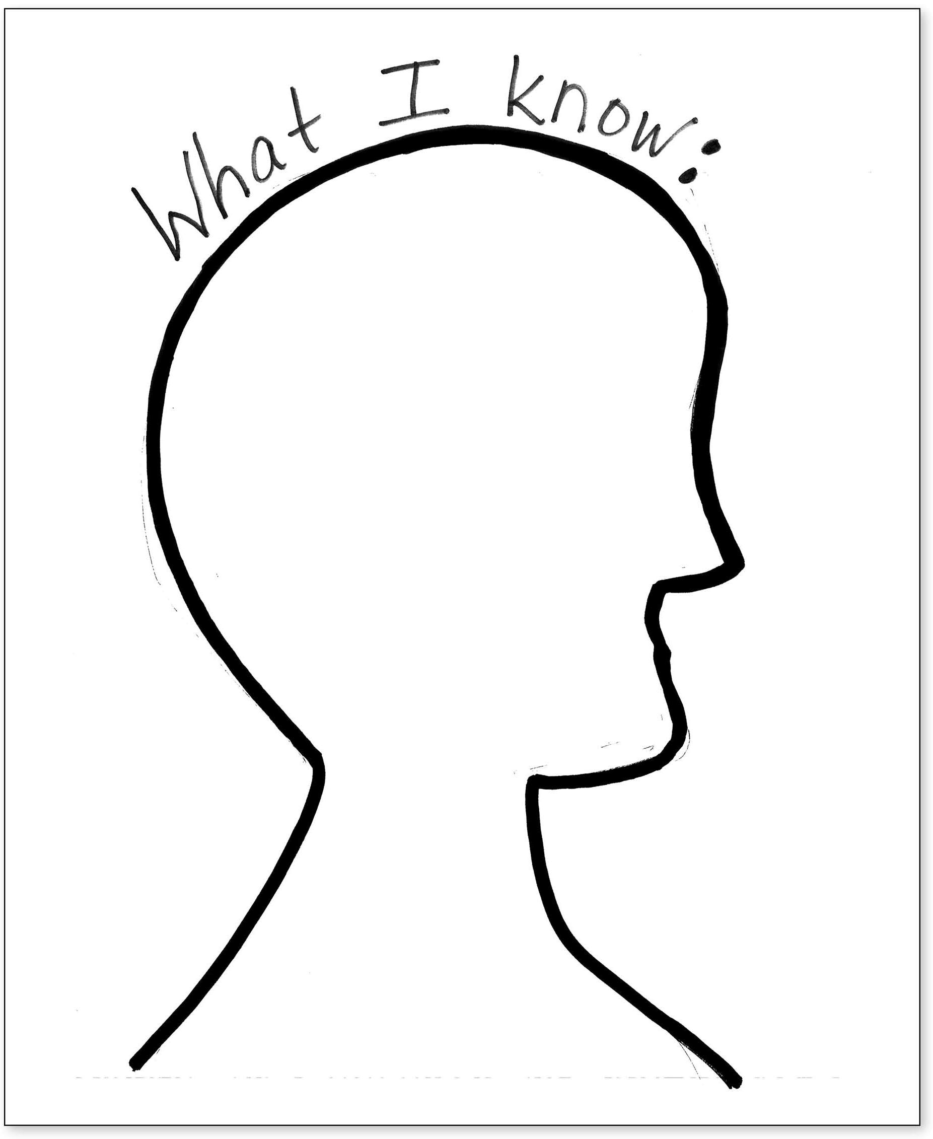 How Do You Draw The Silhouette Head On Chart Paper
