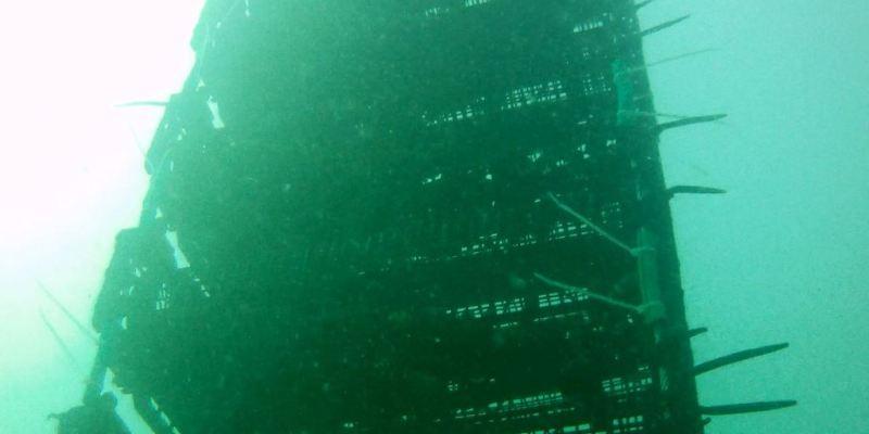Echelle de paniers suspendus en eau (@SMEL)