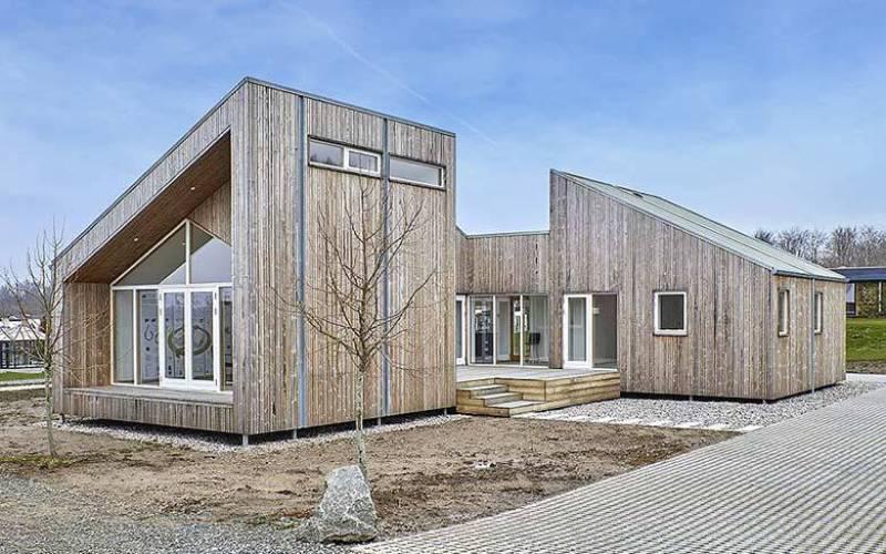 Une maison construire à base d'algues.(crédit photo : Een Til Een)