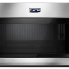 Maytag Kitchen Appliances Small Table For 2 1 Cu Ft Over The Range Microwave Mmv5220f Smetzer Fingerprint Resistant Stainless Steel