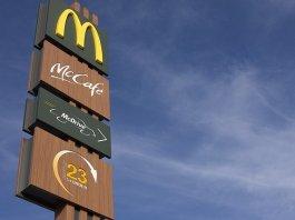Mcdonalds drive-through sign