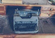 broken typewriter