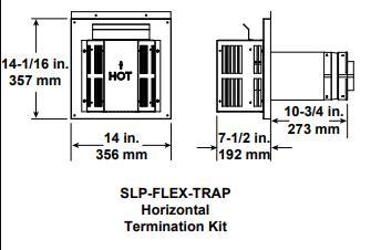 Termination Kit Trapezoid SLP-FLEX-TRAP SLP Direct Vent