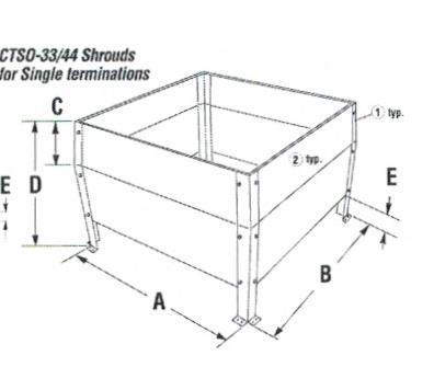 Direct Vent Chase Top Shroud Kits for Single Terminations