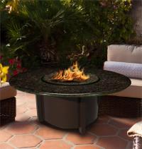 Fire Pit Table Outdoor Carmel Round Chat Height with ...