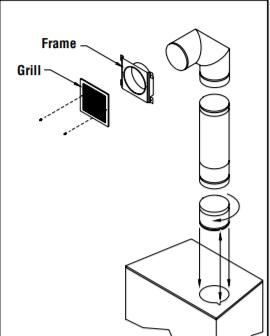 Gravity Venting Kit for EPA Certified Wood Burning
