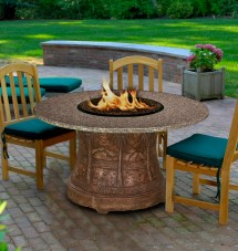 Fire Pit Dining Table