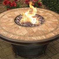 Tahoe Fire Pit Table with Mosaic Pattern Porcelain Tiled ...