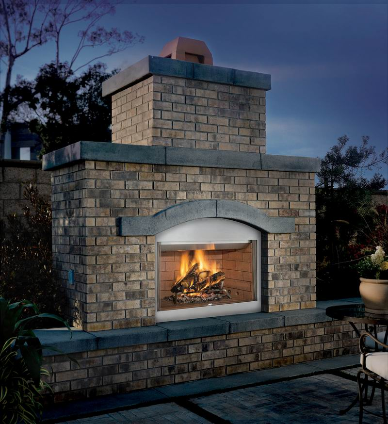 Superior FMI Tuscan Outdoor Wood Burning Fireplace Hearth 36 WRE3036 S36