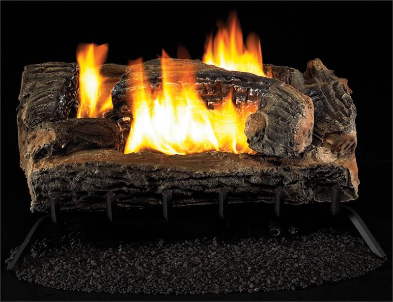 VYM27 Vintage Oak Multi Sided Gas Log Remote Vent Free Vantage Hearth