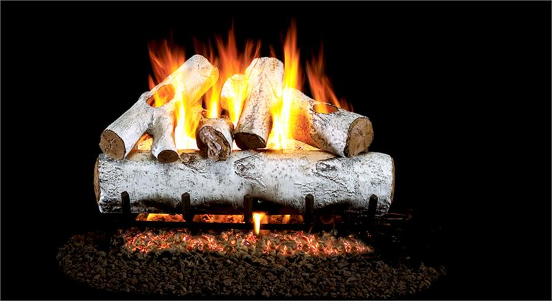 Wg46 30 Peterson Real Fyre White Birch Vented Gas Logs Set
