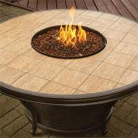 Whitney Outdoor Gas Fire Pit Table with Porcelain Tiled Top